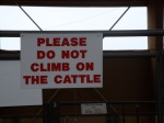 Funny sign at the fair.