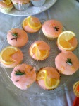 Lemon rosemary cupcakes